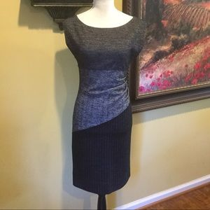 DVF- Beautiful Wool Pattern Dress. Size 4